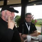 Jörg und Jan im Cafe The Loch Ness Centre 22-07-2012